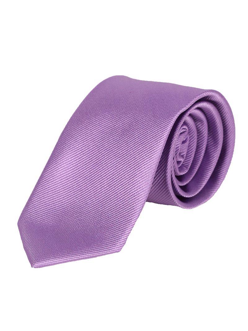 e2f73b888a49a Cravate en soie striée violette   Anne Sophie