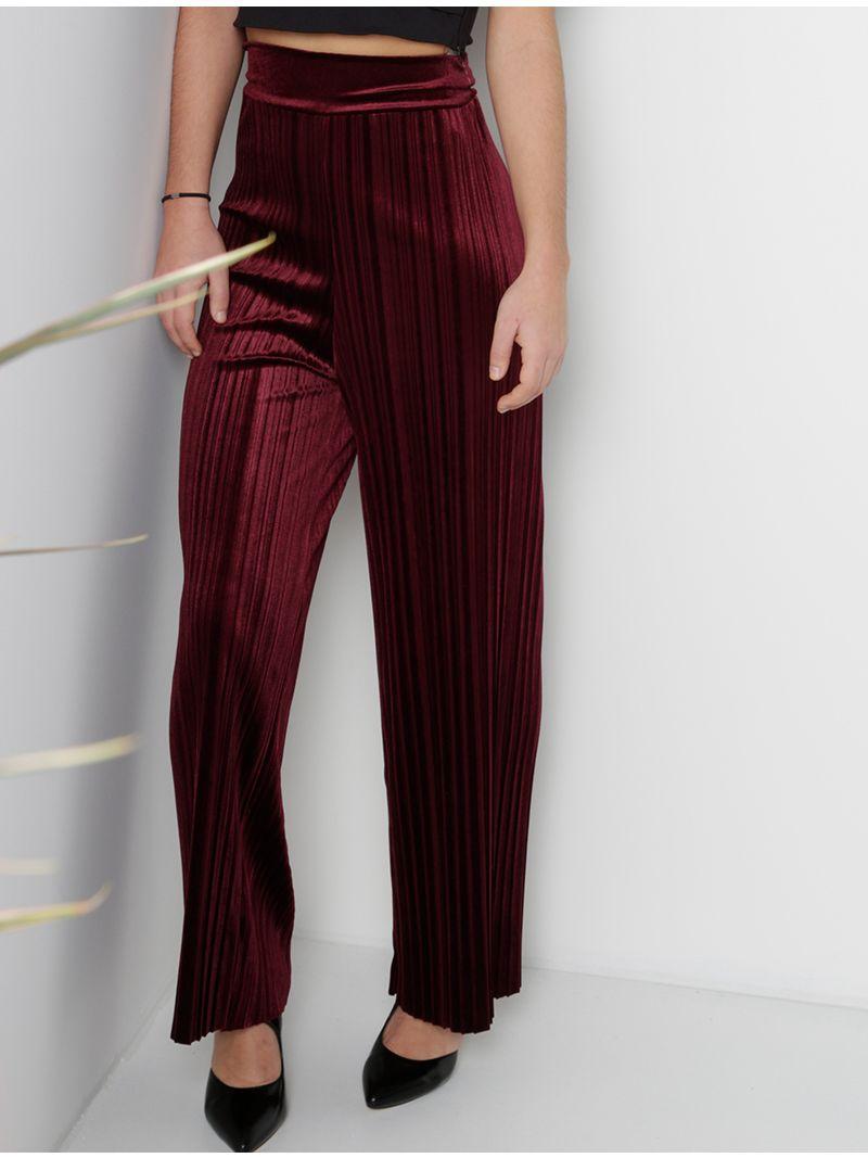 Pantalon plissé en velours