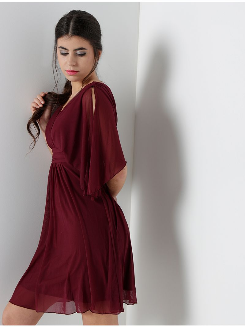 Robe courte en voile