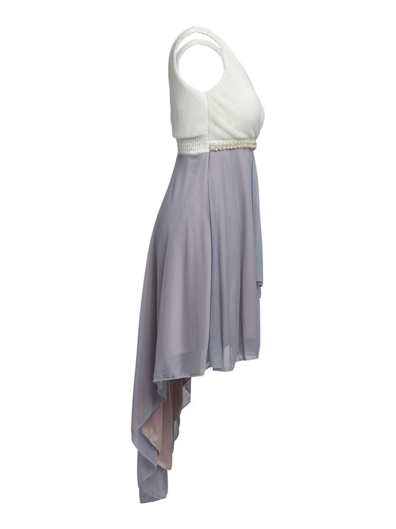 Robe courte asymétrique - 2 couleurs