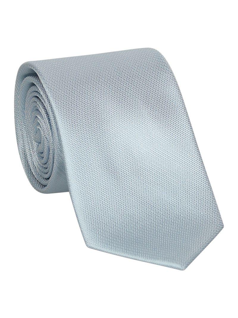 Cravate bleu claire en soie striée