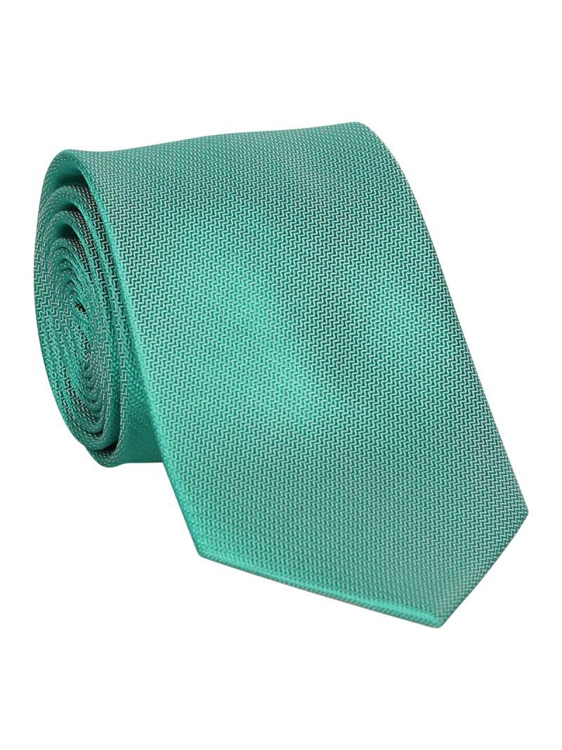 Cravate verte en soie striée