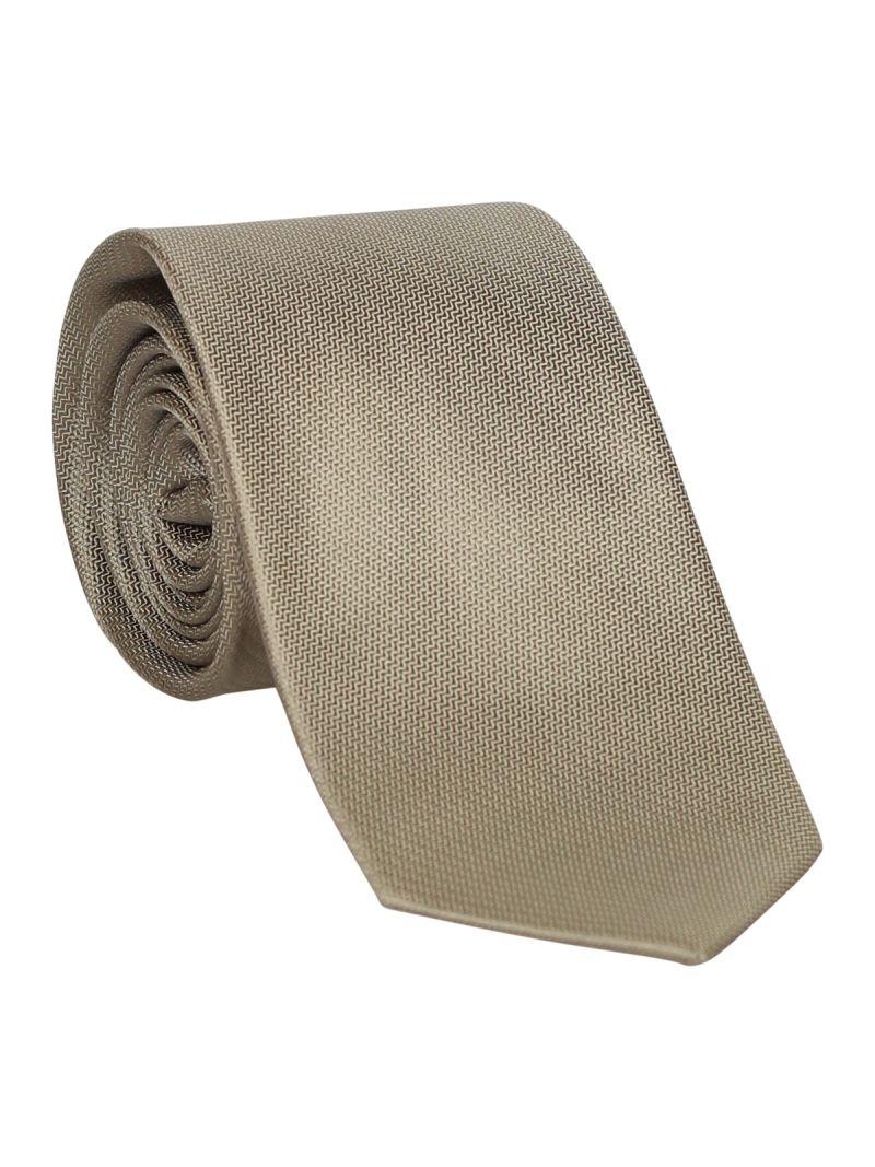 Cravate gris claire en soie striée